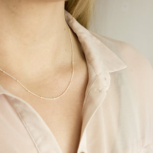 Satellite Chain Necklace (Silver - Gold)