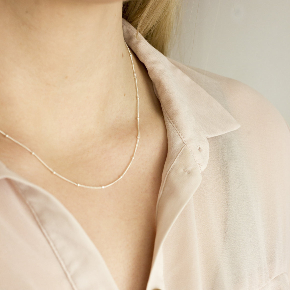 Sterling Silver Satellite Chain Necklace