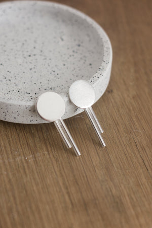 Sterling Silver Solar Stud Earrings