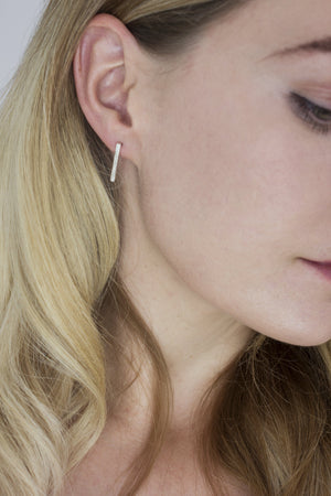 Textured Bar Stud Earrings