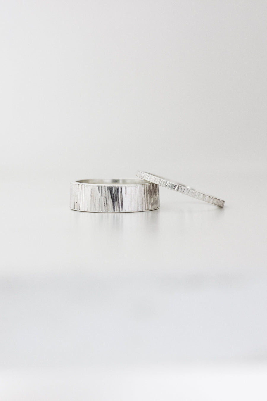 Sterling Silver Textured Band Ring