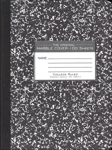 MARBLE COMPOSITION COL RULED 100 PG