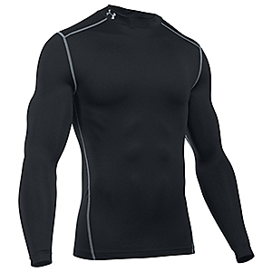 UNDER ARMOUR MEN'S MOCKNECK BLACK LONG SLEEVE
