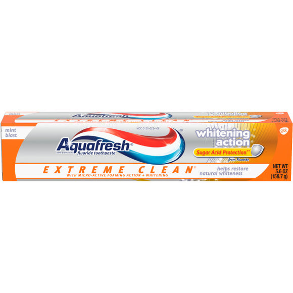 Aquafresh Extreme Clean Whitening Toothpaste 5.6OZ