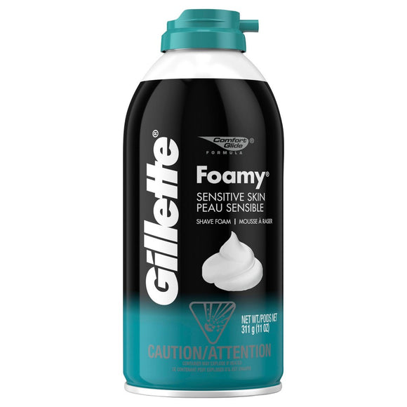 GILLETTE FOAMY SENSITIVE SKIN SHAVING CREAM