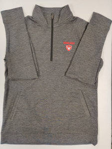 ES Sport Unisex TriBlend 1/4 Zip Pullover Heather Black