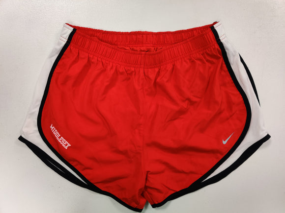 NIKE TEMPO SHORTS RED W/WHT MIDDLESEX