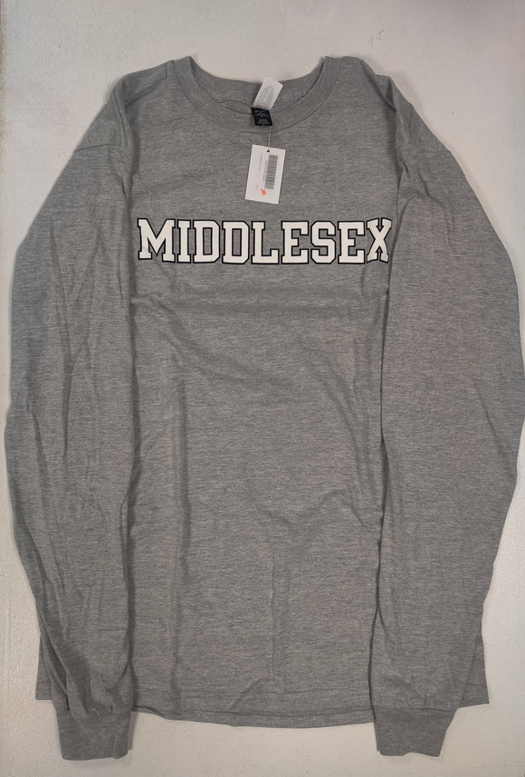 ES HEATHER GRAY LONG SLEEVE T-SHIRT