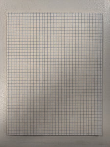 RS GRAPH FILLER PAPER 4X4QUAD 50 SHEETS