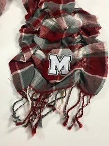 Cardinal Plaid Scrunch Scarf