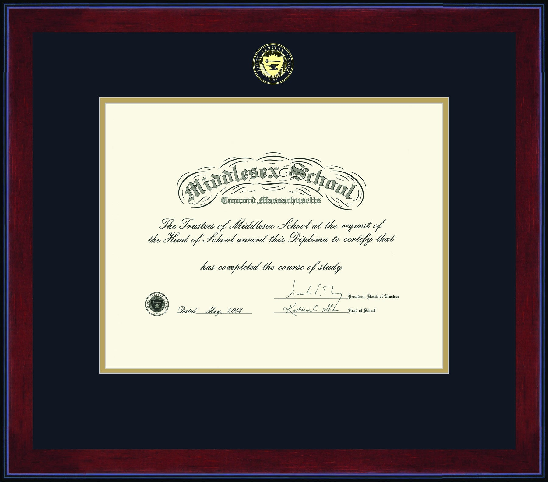 Diploma frames middlesex school store diploma frames diploma frames xflitez Choice Image