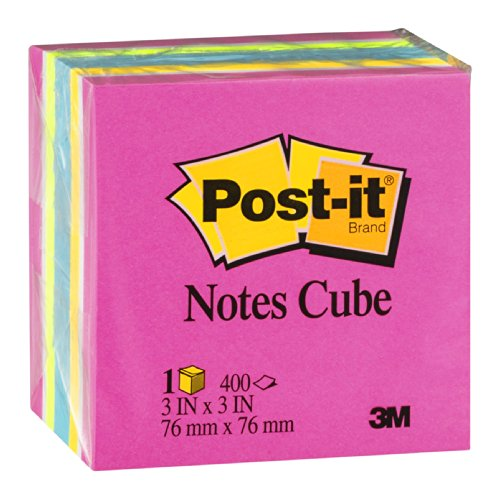 POST IT NOTES CUBE 3X3 400 SHEETS