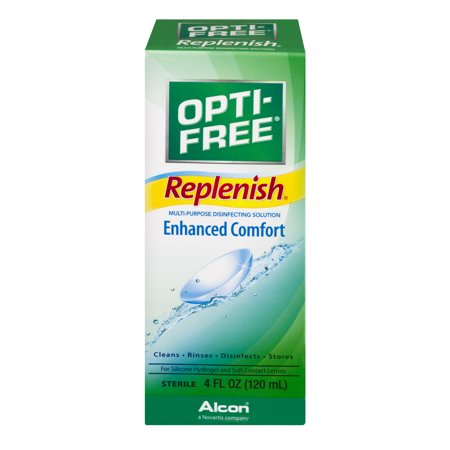 Opti-Free Replenish Enhanced Comfort For Silicone Hydrogel and Soft Contact Lenses, 4.0 FL OZ