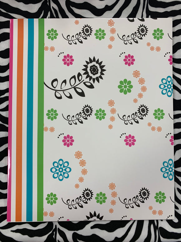 FOLDER PAISLEY STRIPED BORDER