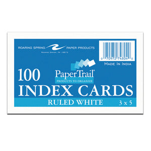 RS INDEX CARD 3X5 RULED 100