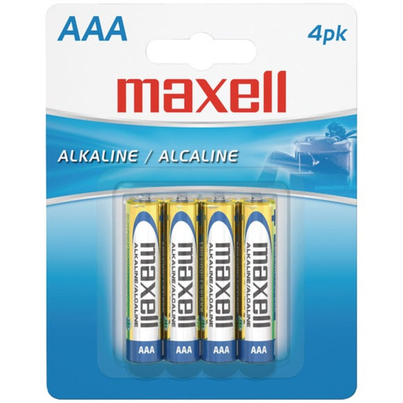 MAXELL AAA 4-PACK BATTERIES