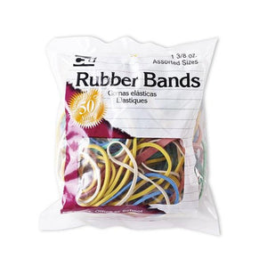 RUBBER BANDS Bag ASSORTED SIZES 1.375oz