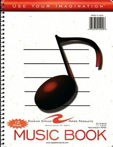 MUSIC MANUSCRIPT NOTEBOOK SPIRALBOUND NOTEBOOK