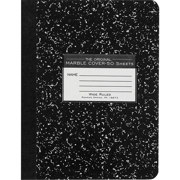 MARBLE COMPOSITION BOOK 50 SHT WIDE RULED ROARING SPRINGS