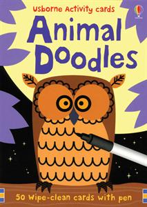 Animal Doodles Ubornes Activity Cards Ages 6+