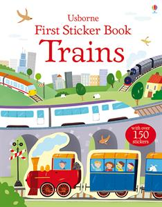 First Sticker Book Trains Ages 4+