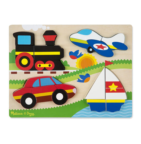 Vehicles Chunky Wooden Jigsaw Puzzle