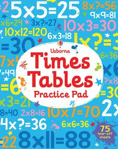 TIMES TABLE PRACTICE PAD 8+