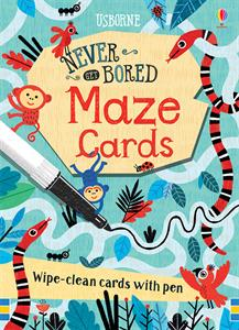 Never get bored maze cards wipe clean 6+
