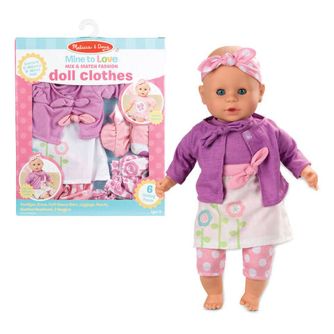 Mine to Love Mix & Match Fashion Doll Clothes