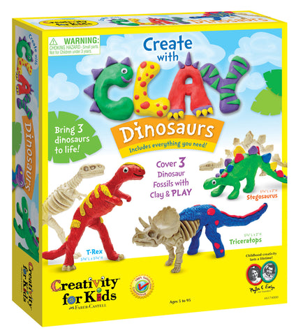 Create with Clay Dinosaurs 5+