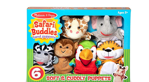 Safari Buddies Hand Puppets