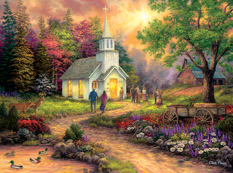 Country Church 1000 pc. Jigsaw Puzzle 10+