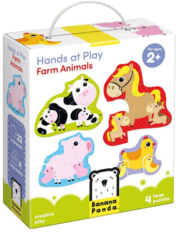 Hands at Play Puzzles Farm Animals 2+