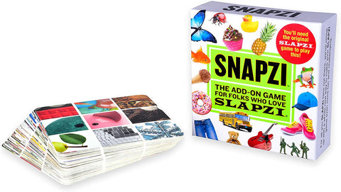 TENZI SNAPZI - The Add-On Party Card Game for Folks Who Love SLAPZI - 2-10 Players - Ages 8-98