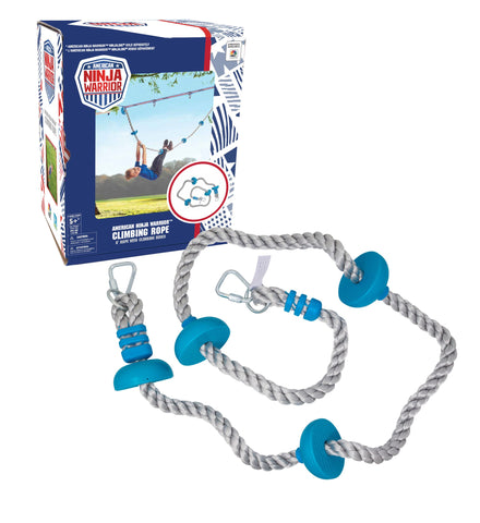 American Ninja Warrior 8' Dual Climbing Rope - Ages 5-95