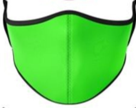 SNK2 Face Mask Kids-Neon Lime Green