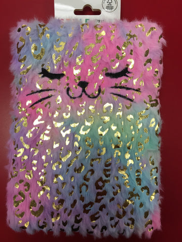 Xtra Rainbow Gold Leopard Journal