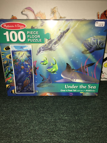 Under the Sea 100 Piece floor puzzle