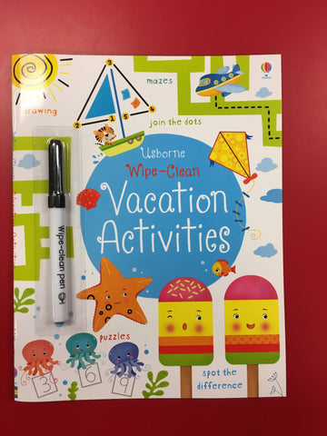 Wipe-Clean Vacation Activities - CR Toys