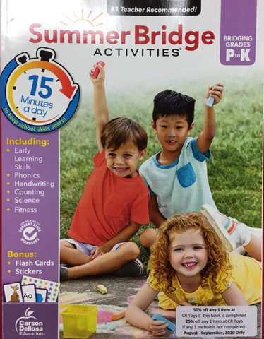Summer Bridge Activities Pre K-K - CR Toys