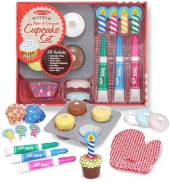 Wooden Bake and Decorate Cupcake Set - CR Toys