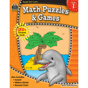 Teacher Creative Resource-Math Puzzles & Games 1st Grade