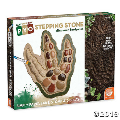 Paint Your Own Stepping Stone: Dinosaur Footprint