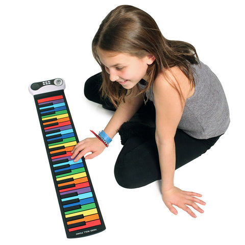Rock and Roll It! Rainbow Flexible Roll-Up Piano