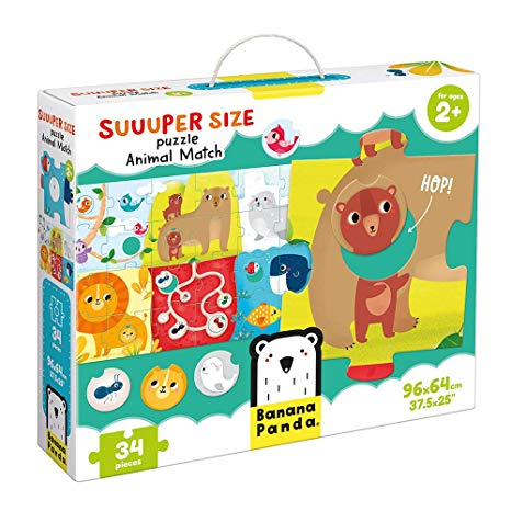 Suuuper Size Puzzle Animal Match - CR Toys