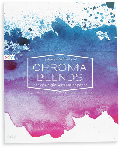 Chroma Blends Heavy Weight Watercolor Paper - CR Toys