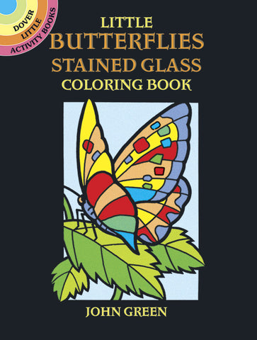 Little Butterflies Stained Glass Coloring Book