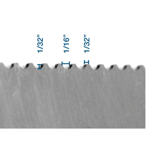 "Versablade trowel blade with ""U"" notch"