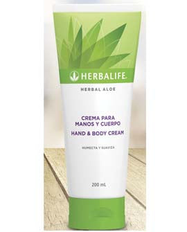 Crema de manos y cuerpo herbal aloe 200ml
