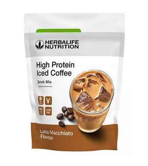 High Protein Iced Coffee Latte Macchiato 308 g SKU 012K Nuevo